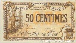 50 Centimes FRANCE régionalisme et divers GRANVILLE 1916 JP.060.07 SUP
