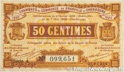 50 Centimes FRANCE régionalisme et divers GRANVILLE et CHERBOURG 1920 JP.061.01 TTB+