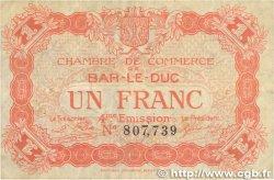 1 Franc FRANCE régionalisme et divers Bar-Le-Duc 1917 JP.019.15 TB