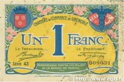 1 Franc FRANCE régionalisme et divers Grenoble 1917 JP.063.20 pr.TTB