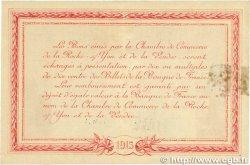 1 Franc FRANCE régionalisme et divers LA ROCHE-SUR-YON 1915 JP.065.17 pr.TTB