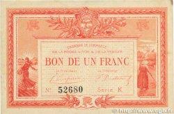 1 Franc FRANCE régionalisme et divers LA ROCHE-SUR-YON 1915 JP.065.17 TTB