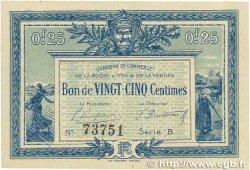 25 Centimes FRANCE régionalisme et divers LA ROCHE-SUR-YON 1916 JP.065.26 TTB+
