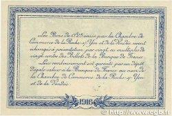 25 Centimes FRANCE régionalisme et divers LA ROCHE-SUR-YON 1916 JP.065.26 SUP+