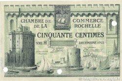 50 Centimes FRANCE régionalisme et divers LA ROCHELLE 1915 JP.066.02 TTB+