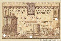 1 Franc FRANCE régionalisme et divers LA ROCHELLE 1915 JP.066.04 TTB