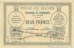 2 Francs FRANCE régionalisme et divers Le Havre 1914 JP.068.07 TTB