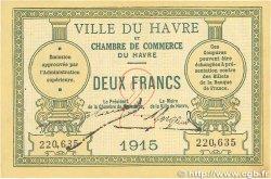 2 Francs FRANCE régionalisme et divers Le Havre 1915 JP.068.12 SUP