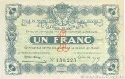 1 Franc FRANCE régionalisme et divers Le Havre 1920 JP.068.22 TTB+