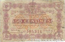 50 Centimes FRANCE régionalisme et divers LE HAVRE 1920 JP.068.26 B