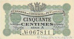 50 Centimes FRANCE régionalisme et divers Le Puy 1916 JP.070.01 pr.NEUF