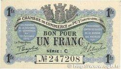 1 Franc FRANCE régionalisme et divers Le Puy 1916 JP.070.06 pr.NEUF
