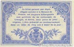 50 Centimes FRANCE régionalisme et divers LIMOGES 1914 JP.073.09 SPL