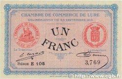 1 Franc FRANCE régionalisme et divers LURE 1915 JP.076.06 pr.NEUF
