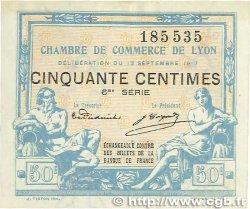 50 Centimes FRANCE régionalisme et divers Lyon 1917 JP.077.14 SUP
