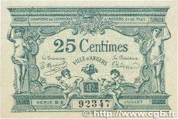 25 Centimes FRANCE régionalisme et divers ANGERS 1915 JP.008.08 SUP+