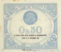 50 Centimes FRANCE régionalisme et divers Lyon 1919 JP.077.18 SUP