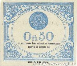 50 Centimes FRANCE régionalisme et divers Lyon 1920 JP.077.22 SUP