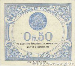 50 Centimes FRANCE régionalisme et divers LYON 1920 JP.077.22 SPL