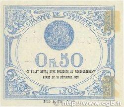 50 Centimes FRANCE régionalisme et divers LYON 1920 JP.077.22 SUP+