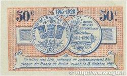 50 Centimes FRANCE régionalisme et divers Melun 1915 JP.080.01 SUP