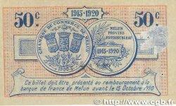 50 Centimes FRANCE régionalisme et divers MELUN 1915 JP.080.01 TTB+