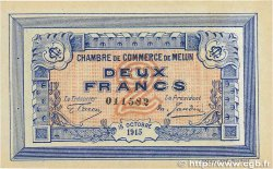 2 Francs FRANCE régionalisme et divers MELUN 1915 JP.080.05 pr.SUP