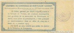 50 Centimes FRANCE régionalisme et divers MONTLUÇON, GANNAT 1914 JP.084.07 SUP