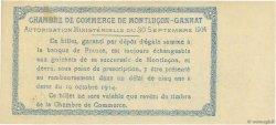50 Centimes FRANCE régionalisme et divers MONTLUÇON, GANNAT 1914 JP.084.07 pr.NEUF