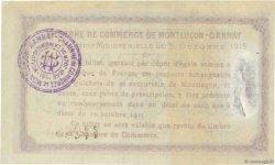 1 Franc FRANCE régionalisme et divers MONTLUÇON, GANNAT 1915 JP.084.15var. TTB