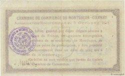 1 Franc FRANCE régionalisme et divers MONTLUÇON, GANNAT 1915 JP.084.15var. TB