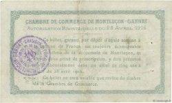 1 Franc FRANCE régionalisme et divers Montluçon, Gannat 1916 JP.084.23 TTB