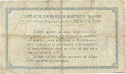 2 Francs FRANCE régionalisme et divers MONTLUÇON, GANNAT 1916 JP.084.26 B