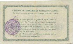 2 Francs FRANCE régionalisme et divers Montluçon, Gannat 1916 JP.084.26 TTB
