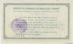 2 Francs FRANCE régionalisme et divers MONTLUÇON, GANNAT 1916 JP.084.26 TTB+