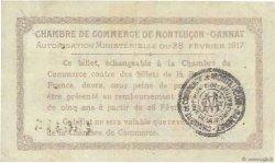 50 Centimes FRANCE régionalisme et divers Montluçon, Gannat 1917 JP.084.28 TTB