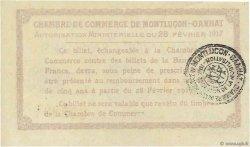 50 Centimes FRANCE régionalisme et divers Montluçon, Gannat 1917 JP.084.28 SUP