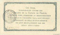 1 Franc FRANCE régionalisme et divers MONTLUÇON, GANNAT 1921 JP.084.58 SUP+