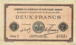 2 Francs FRANCE régionalisme et divers MONTLUÇON, GANNAT 1921 JP.084.59 TB