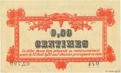 50 Centimes FRANCE régionalisme et divers  1915 JP.085.06var. SUP