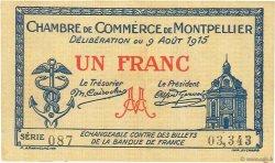1 Franc FRANCE régionalisme et divers Montpellier 1915 JP.085.10 TTB