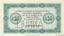 50 Centimes FRANCE régionalisme et divers NANCY 1915 JP.087.02 NEUF