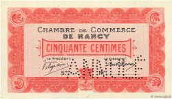 50 Centimes Annulé FRANCE régionalisme et divers Nancy 1915 JP.087.02 SUP+