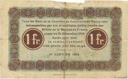 1 Franc FRANCE régionalisme et divers NANCY 1916 JP.087.08 B