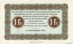 1 Franc FRANCE régionalisme et divers Nancy 1917 JP.087.15 NEUF