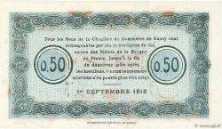 50 Centimes FRANCE régionalisme et divers NANCY 1918 JP.087.20 pr.NEUF