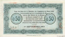 50 Centimes FRANCE régionalisme et divers NANCY 1918 JP.087.20 NEUF