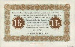 1 Franc FRANCE régionalisme et divers NANCY 1918 JP.087.21 pr.NEUF