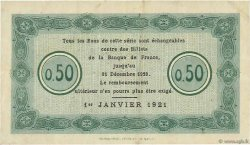 50 Centimes FRANCE régionalisme et divers Nancy 1921 JP.087.47 TTB