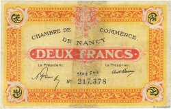 2 Francs FRANCE régionalisme et divers Nancy 1921 JP.087.52 B+